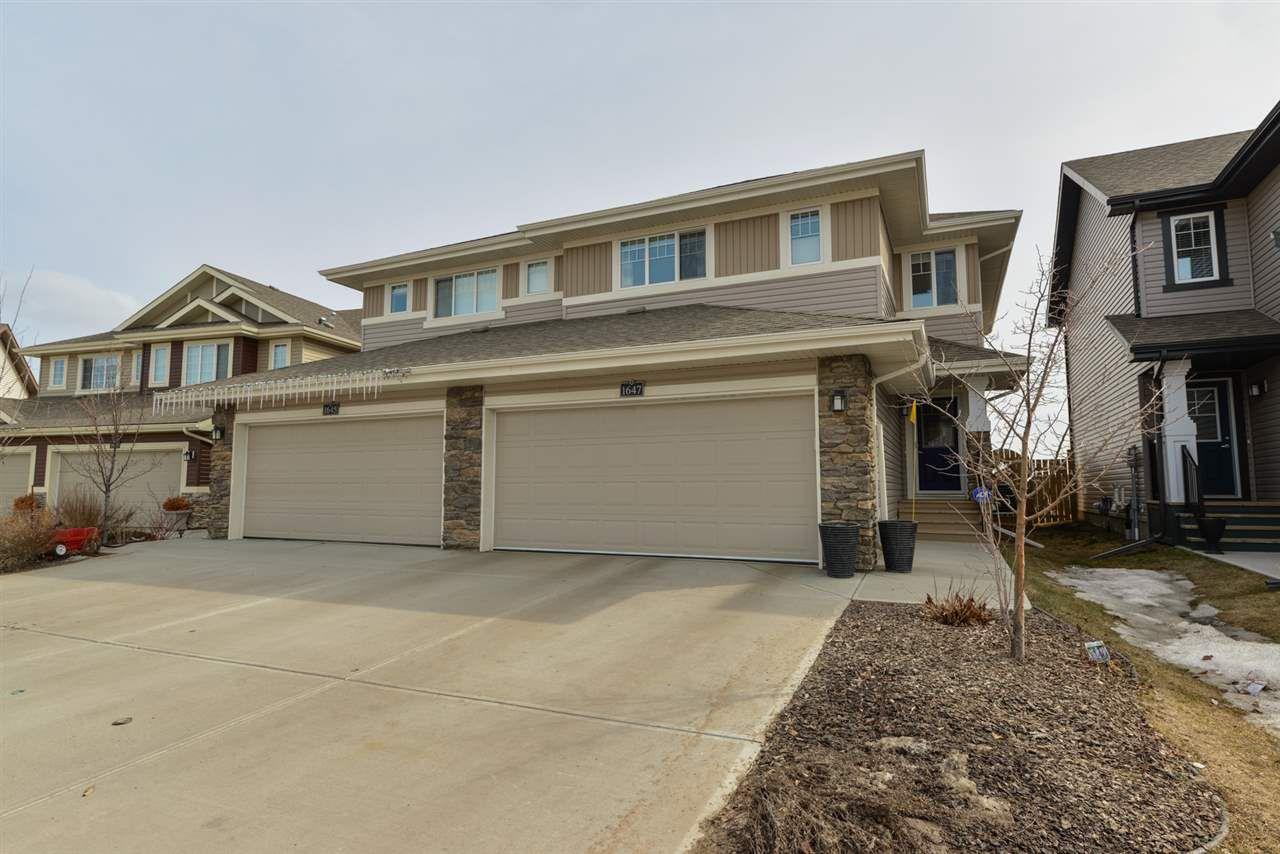 Main Photo: 1647 HAMMOND Crescent in Edmonton: Zone 58 House Half Duplex for sale : MLS®# E4150919