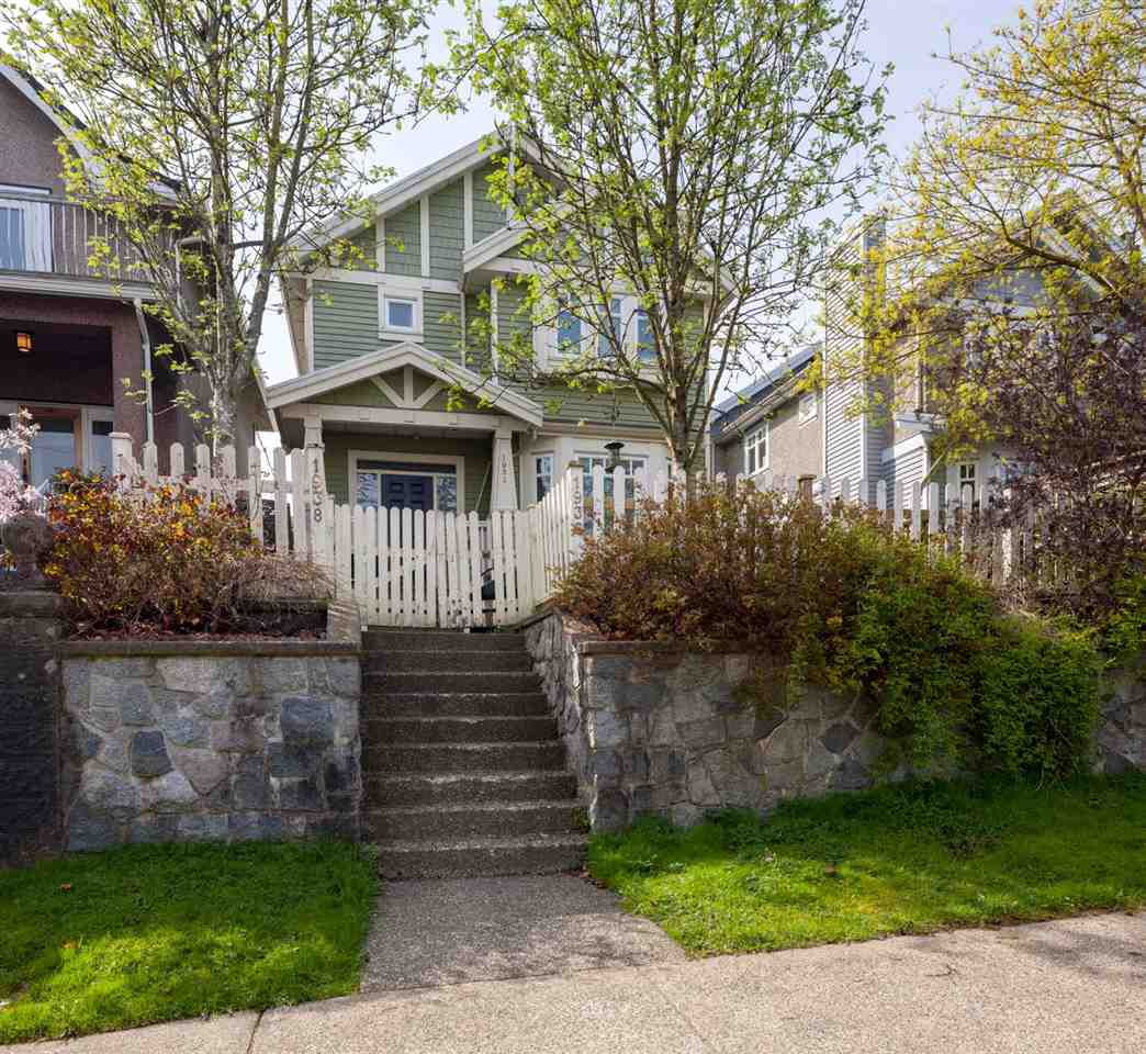 """Main Photo: 1936 ADANAC Street in Vancouver: Hastings House 1/2 Duplex for sale in """"Commercial Drive"""" (Vancouver East)  : MLS®# R2259910"""