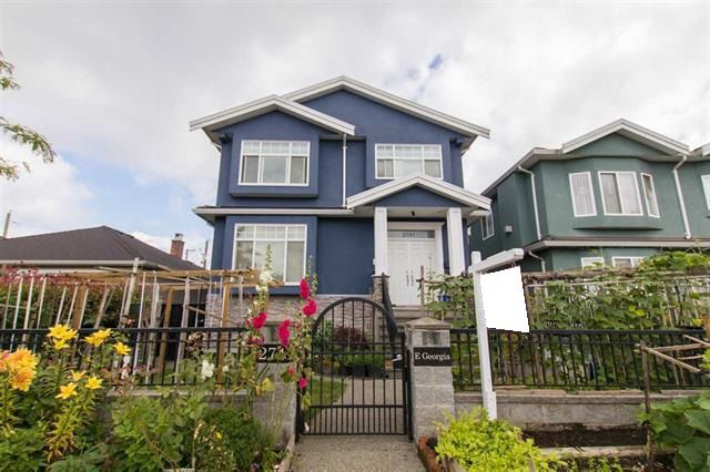 Main Photo: 2741 E GEORGIA Street in Vancouver: Renfrew VE House for sale (Vancouver East)  : MLS®# R2128620