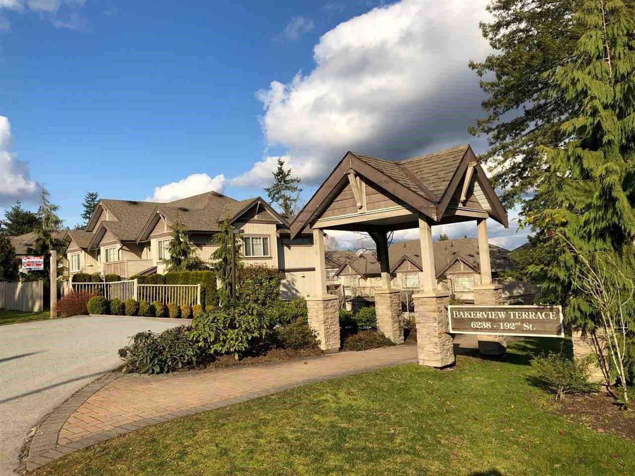 """Main Photo: 26 6238 192 Street in Surrey: Cloverdale BC Townhouse for sale in """"Bakerview Terrace"""" (Cloverdale)  : MLS®# R2248106"""