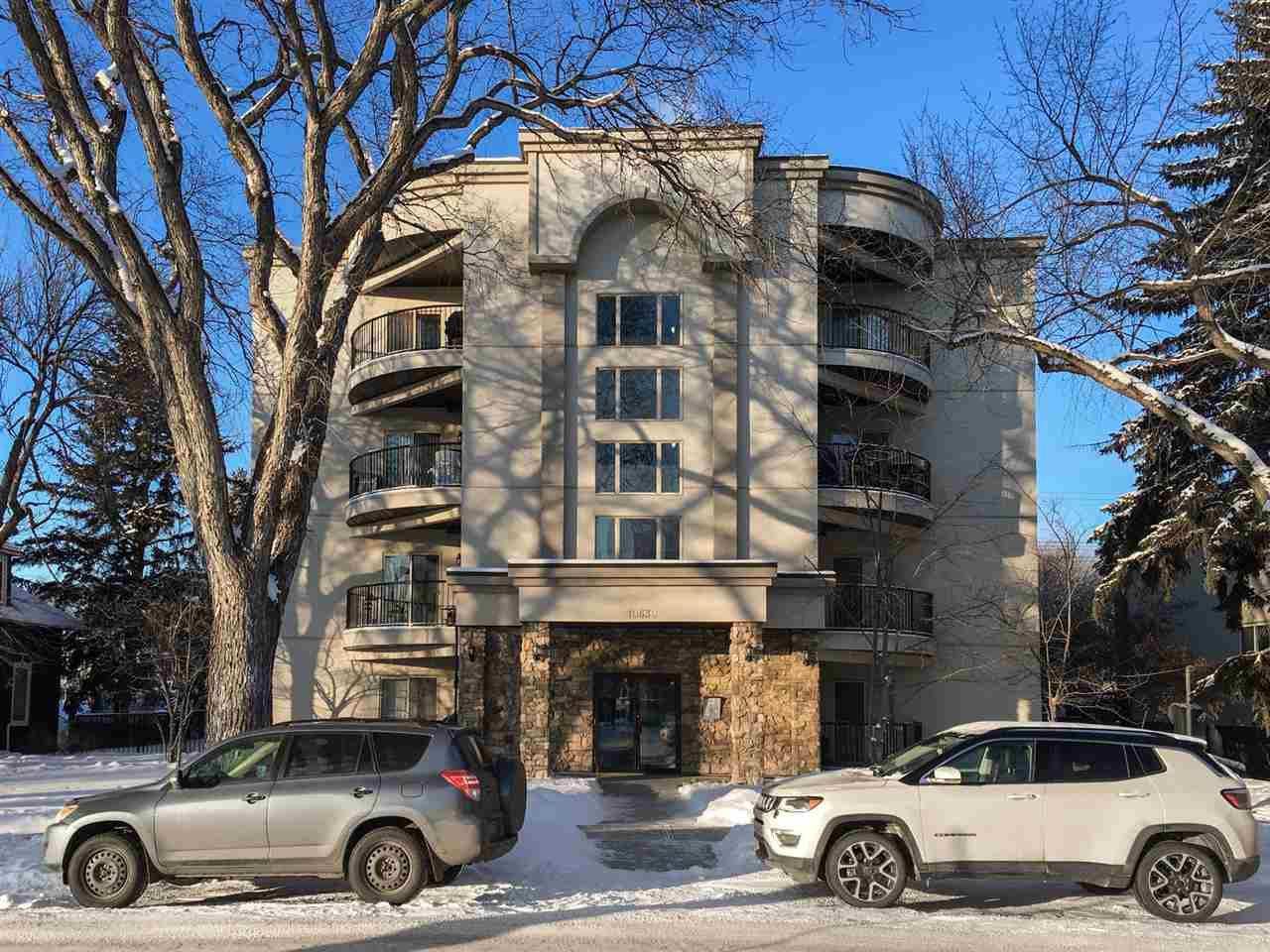 Main Photo: 402 10630 78 Avenue in Edmonton: Zone 15 Condo for sale : MLS®# E4143437
