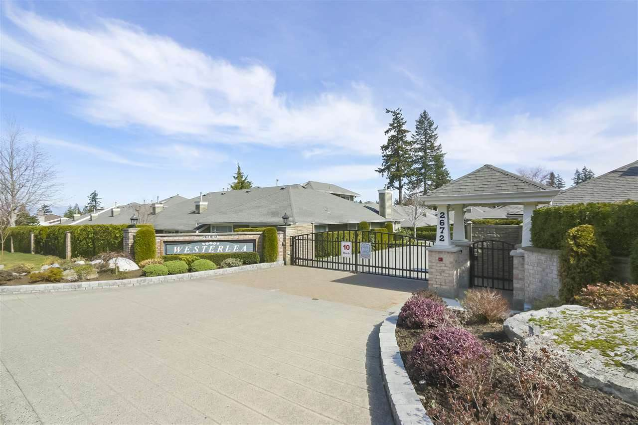 """Main Photo: 47 2672 151 Street in Surrey: Sunnyside Park Surrey Townhouse for sale in """"Westerlea"""" (South Surrey White Rock)  : MLS®# R2378456"""