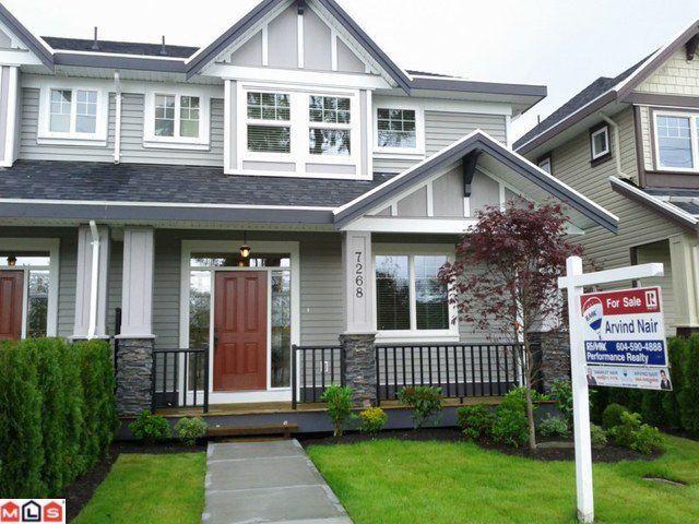 Main Photo: 7268 192ND Street in Surrey: Clayton House 1/2 Duplex for sale (Cloverdale)  : MLS®# F1115176