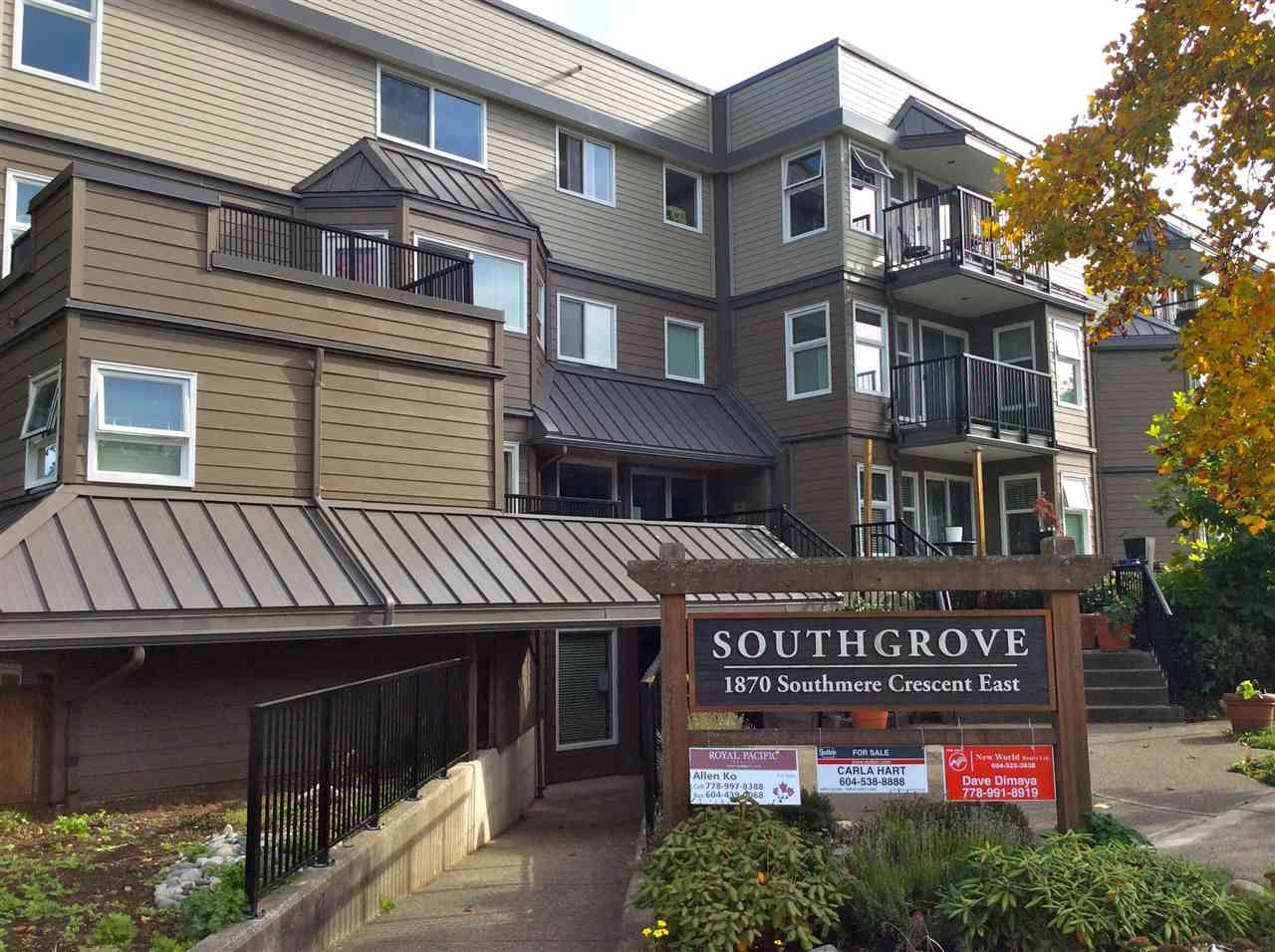 "Main Photo: 105 1870 E SOUTHMERE Crescent in Surrey: Sunnyside Park Surrey Condo for sale in ""Southgrove"" (South Surrey White Rock)  : MLS®# R2049733"