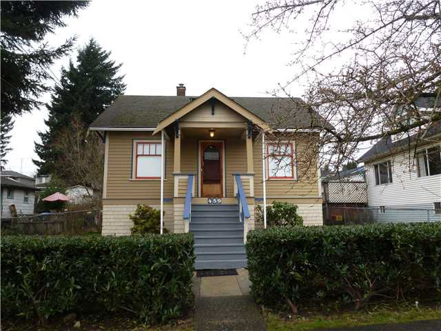 Main Photo: 459 ROUSSEAU Street in New Westminster: Sapperton House for sale : MLS®# V1041361