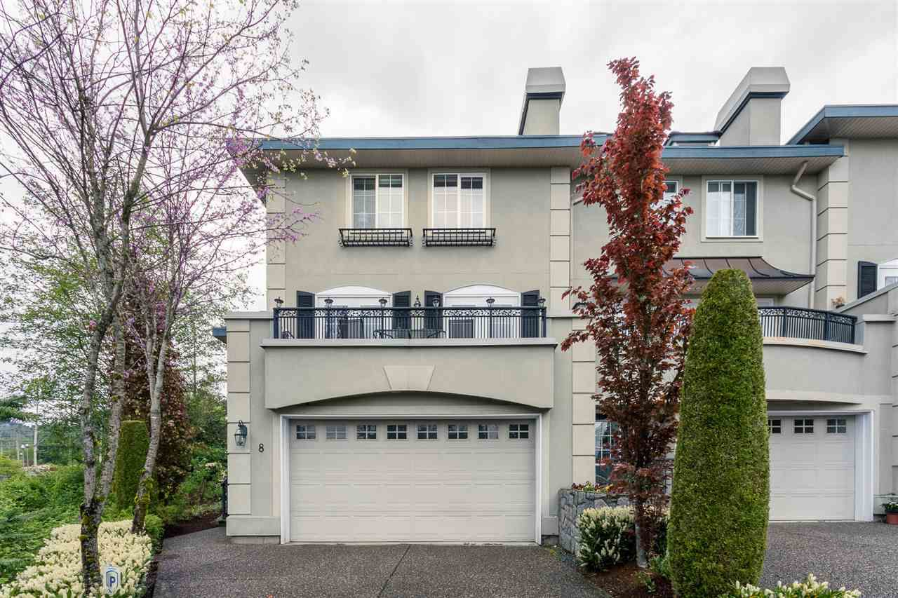 """Main Photo: 8 1651 PARKWAY Boulevard in Coquitlam: Westwood Plateau Townhouse for sale in """"VERDANT CREEK"""" : MLS®# R2061549"""