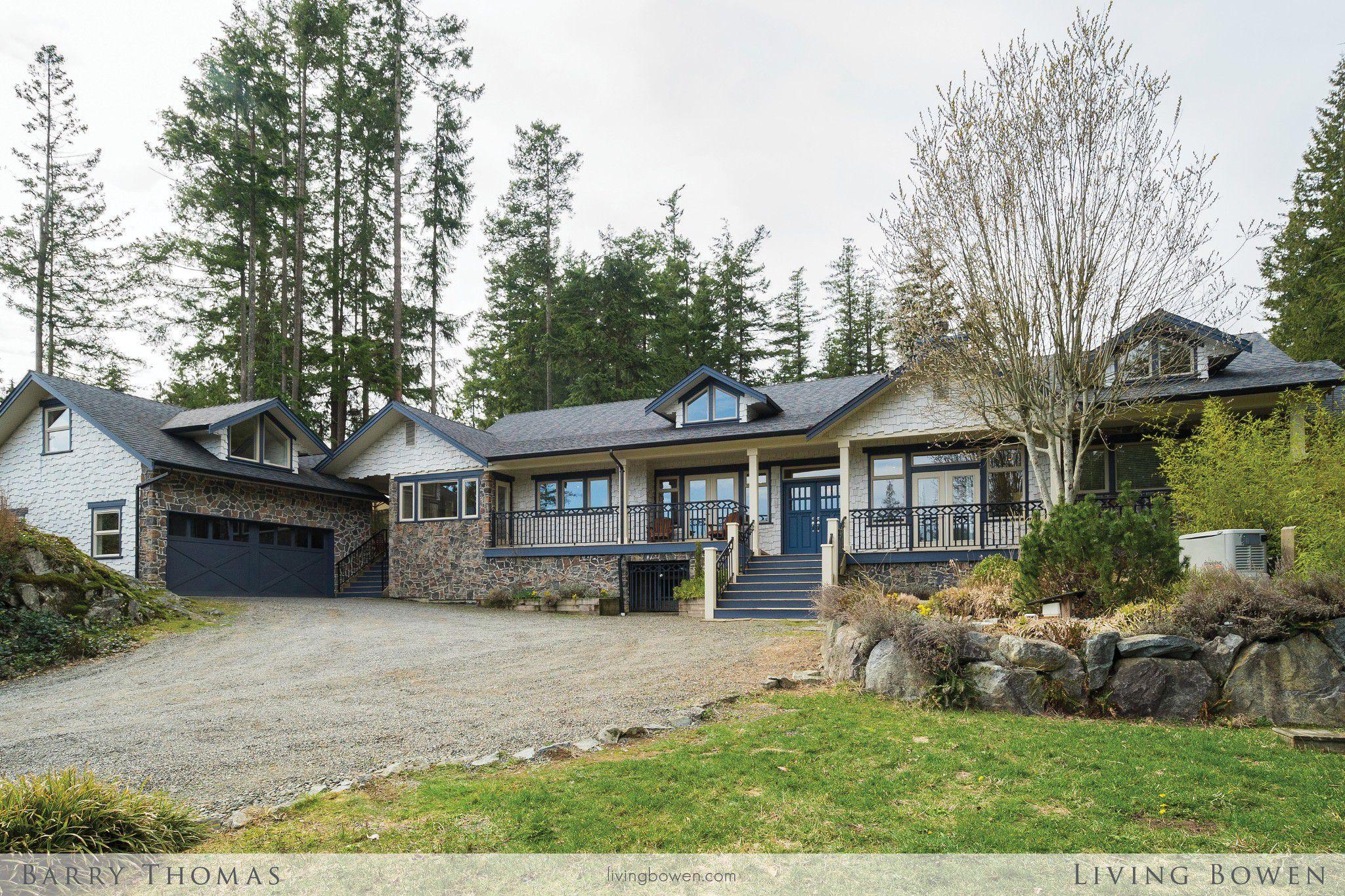 Main Photo: 336 Salal Road in Bowen Island: Josephine Lake House for sale : MLS®# R2250579
