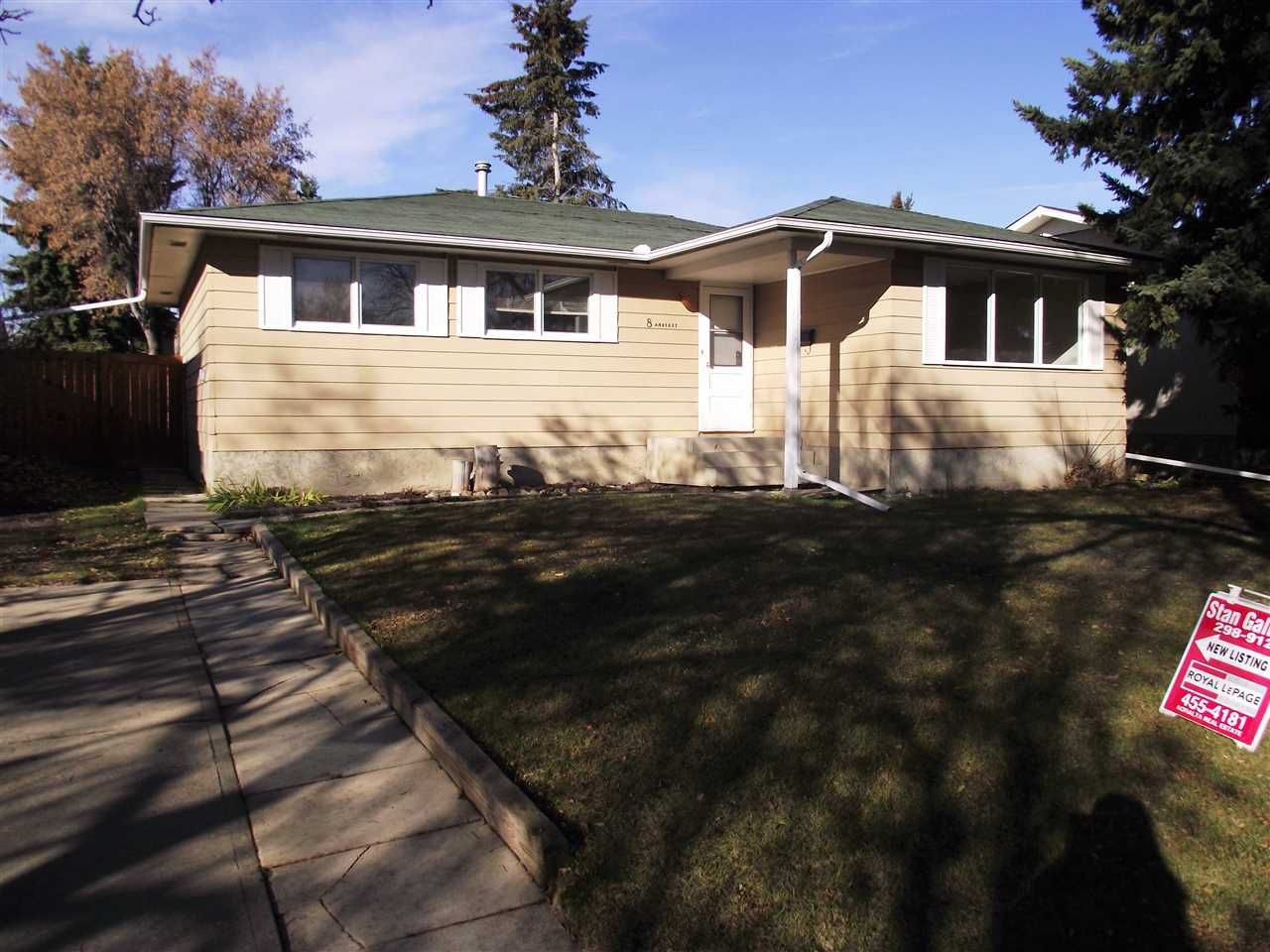 Main Photo: 8 Amherst Crescent: St. Albert House for sale : MLS®# E4141947