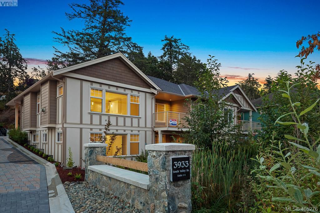 Main Photo: 2 3933 South Valley Drive in VICTORIA: SW Strawberry Vale Townhouse for sale (Saanich West)  : MLS®# 405276