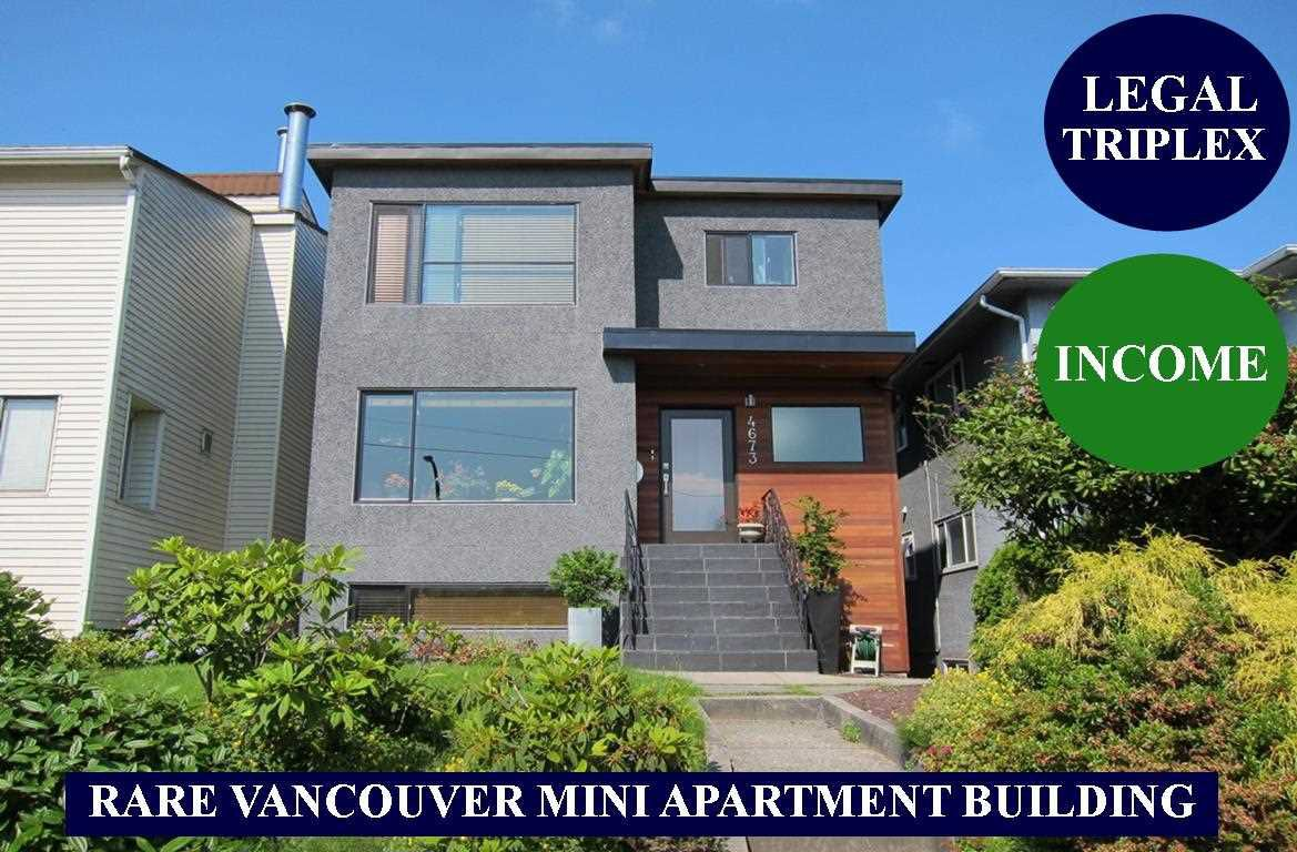 "Main Photo: 4673 FRASER Street in Vancouver: Fraser VE House for sale in ""FRASER"" (Vancouver East)  : MLS®# R2355078"