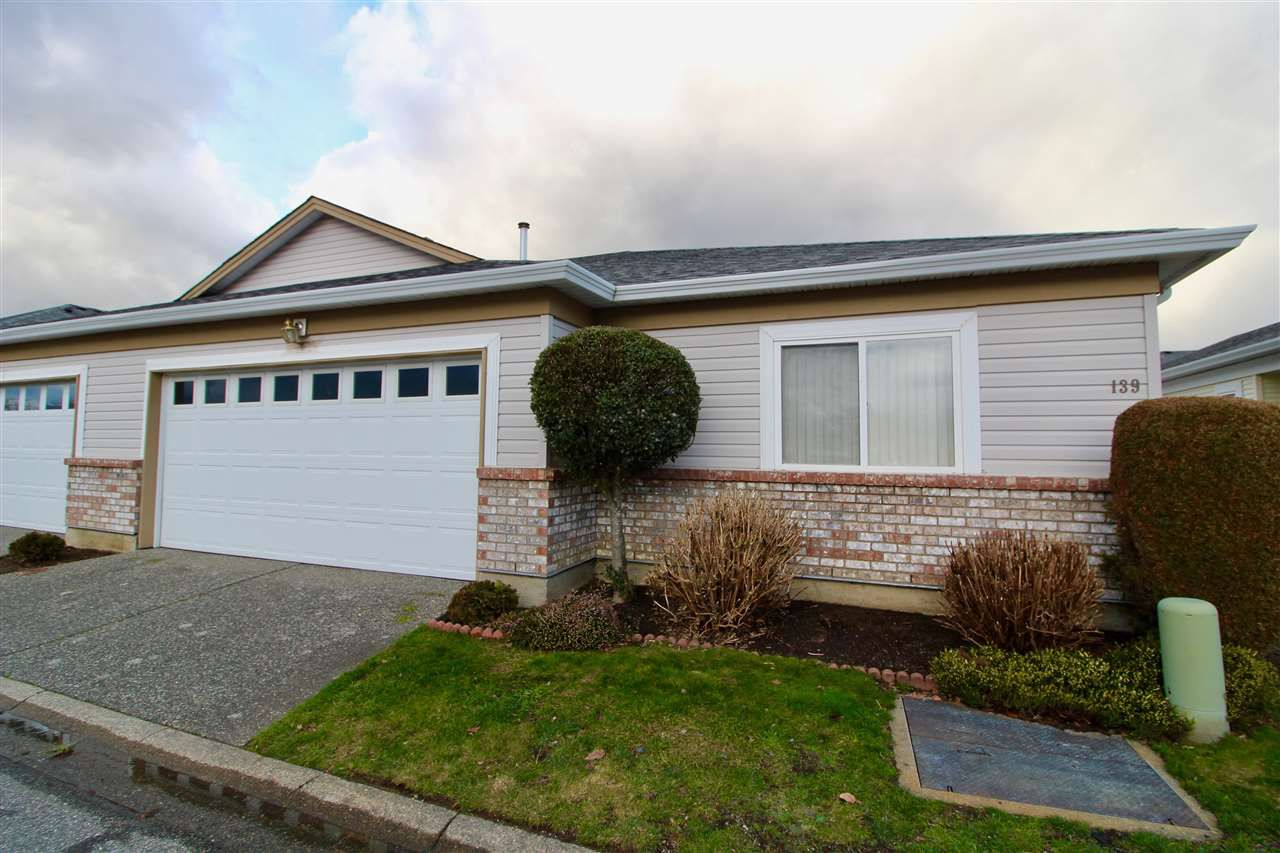 "Main Photo: 139 8485 YOUNG Road in Chilliwack: Chilliwack W Young-Well House 1/2 Duplex for sale in ""HAZELWOOD GROVE"" : MLS®# R2234130"