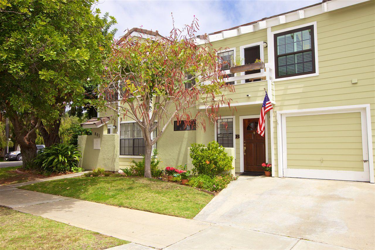 Main Photo: CORONADO VILLAGE Townhome for rent : 2 bedrooms : 801 G Avenue #B in Coronado