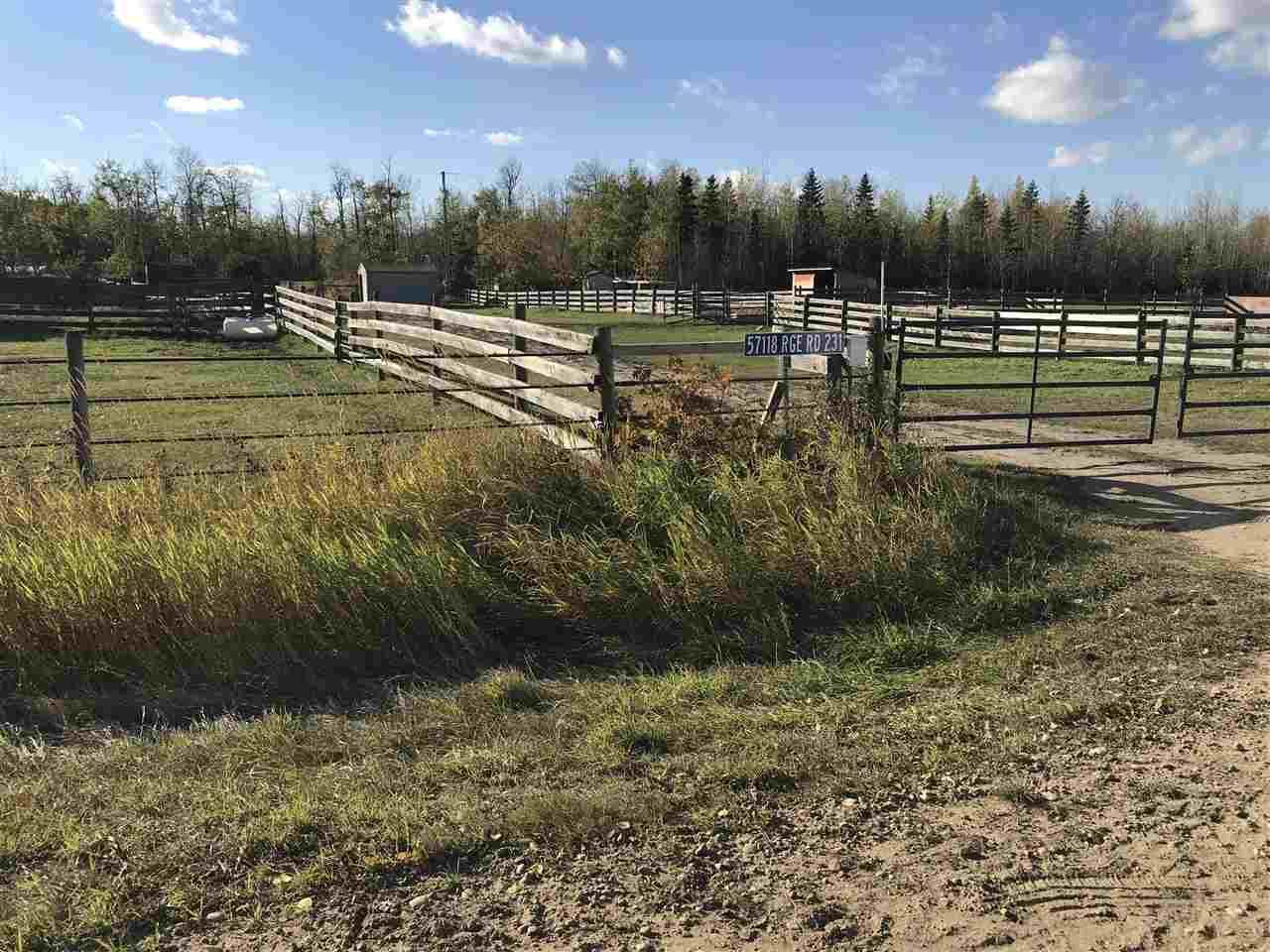 Main Photo: 57118 Range Road 231: Rural Sturgeon County Rural Land/Vacant Lot for sale : MLS®# E4132283