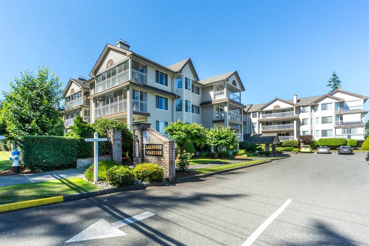 "Main Photo: 311 2491 GLADWIN Road in Abbotsford: Abbotsford West Condo for sale in ""Lakewood Gardens"" : MLS®# R2318909"