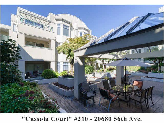 "Main Photo: 210 20680 56TH Avenue in Langley: Langley City Condo for sale in ""CASSOLA COURT"" : MLS®# F1422247"