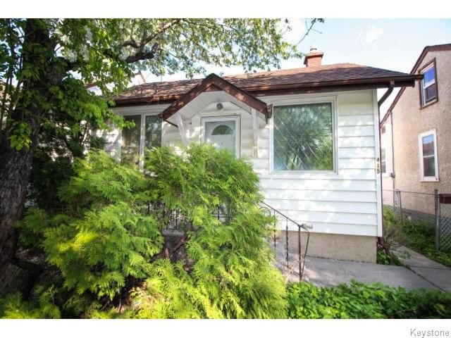 Main Photo: 415 Galloway Street in Winnipeg: North End Residential for sale (North West Winnipeg)  : MLS®# 1613472