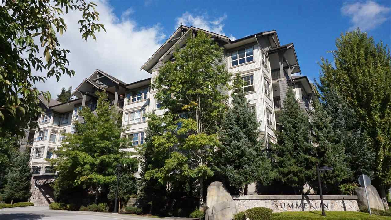 """Main Photo: 407 2958 WHISPER Way in Coquitlam: Westwood Plateau Condo for sale in """"SUMMERLIN AT SILVER SPRINGS"""" : MLS®# R2210046"""