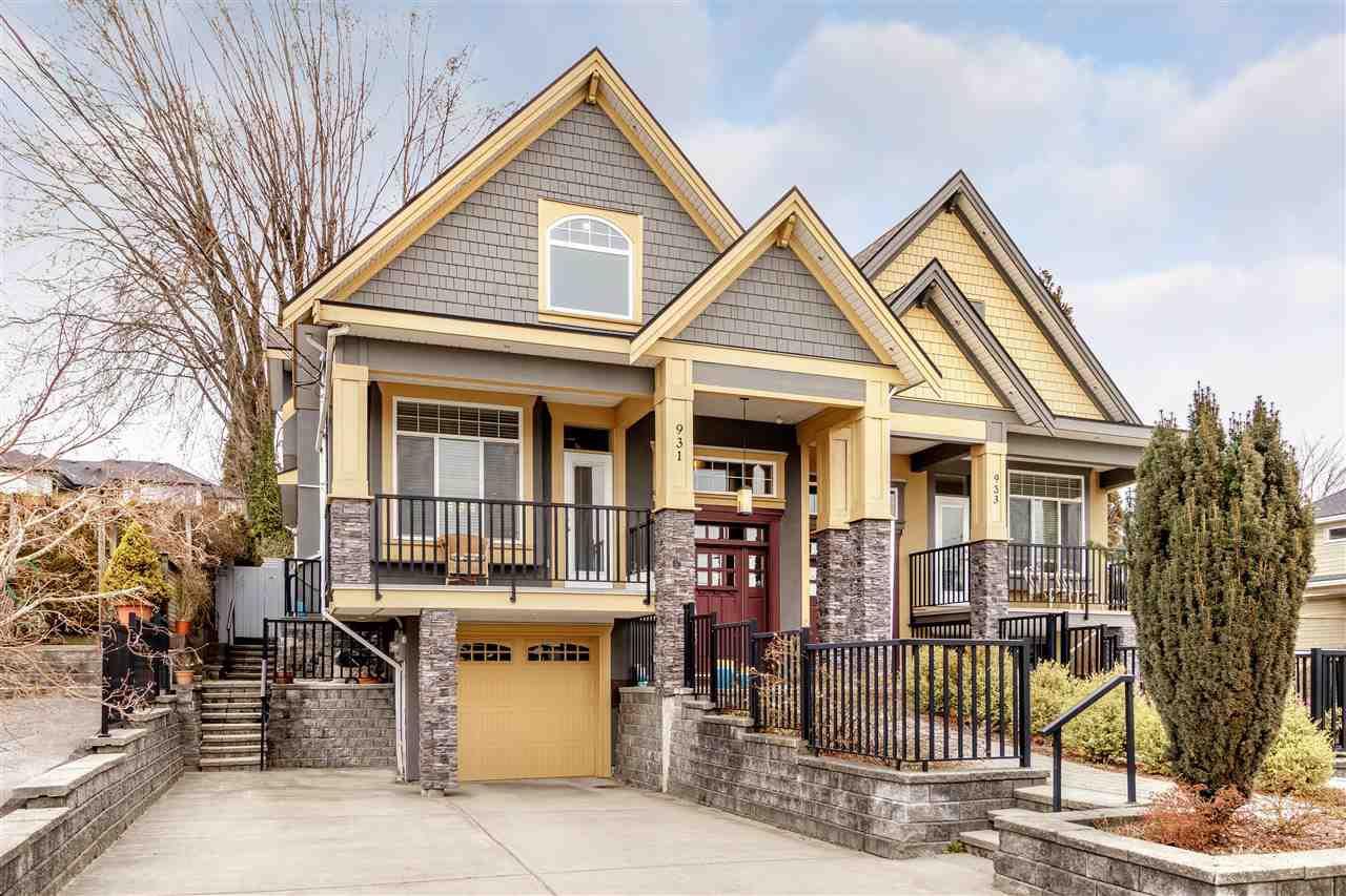 Main Photo: 931 QUADLING Avenue in Coquitlam: Maillardville House 1/2 Duplex for sale : MLS®# R2347847