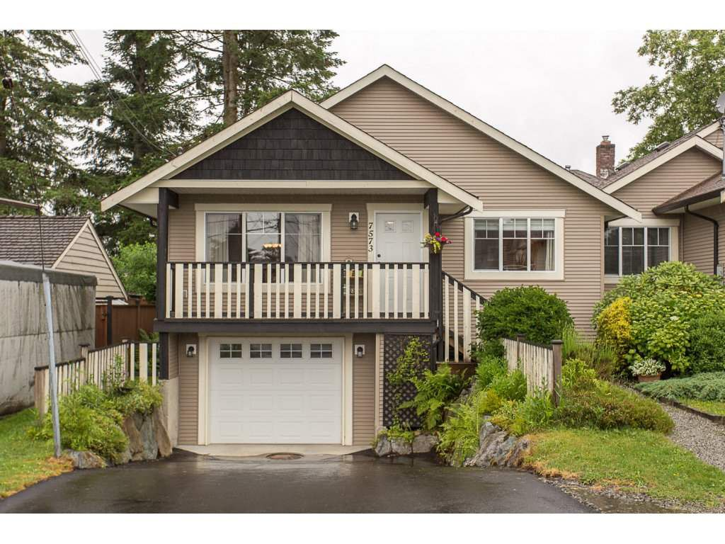 Main Photo: 7573 COLUMBIA Street in Mission: Mission BC House 1/2 Duplex for sale : MLS®# R2175303