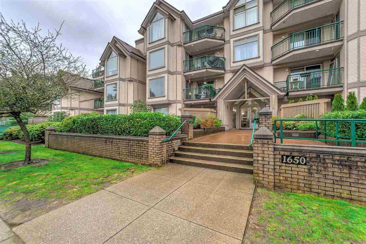 "Main Photo: 105 1650 GRANT Avenue in Port Coquitlam: Glenwood PQ Condo for sale in ""FORESTSIDE"" : MLS®# R2252185"