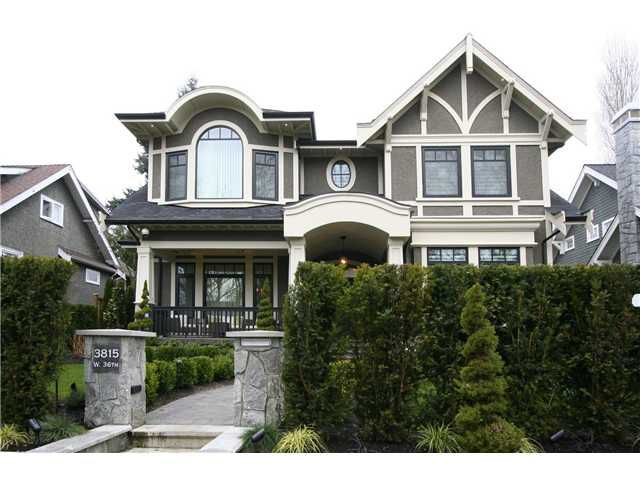 Main Photo: 3815 W 36TH Avenue in Vancouver: Dunbar House for sale (Vancouver West)  : MLS®# V1041057