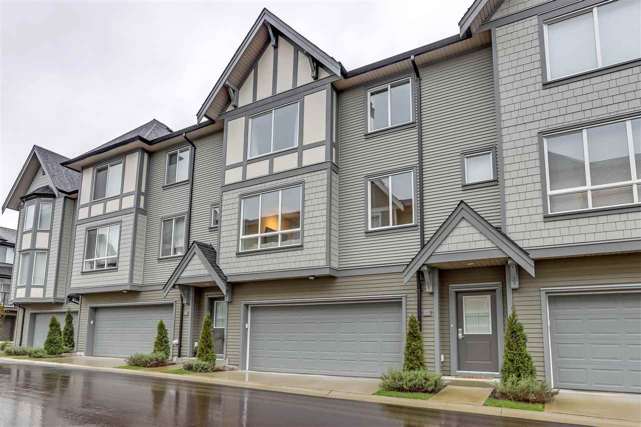 "Main Photo: 77 8138 204 Street in Langley: Willoughby Heights Townhouse for sale in ""Ashbury & Oak"" : MLS®# R2338169"