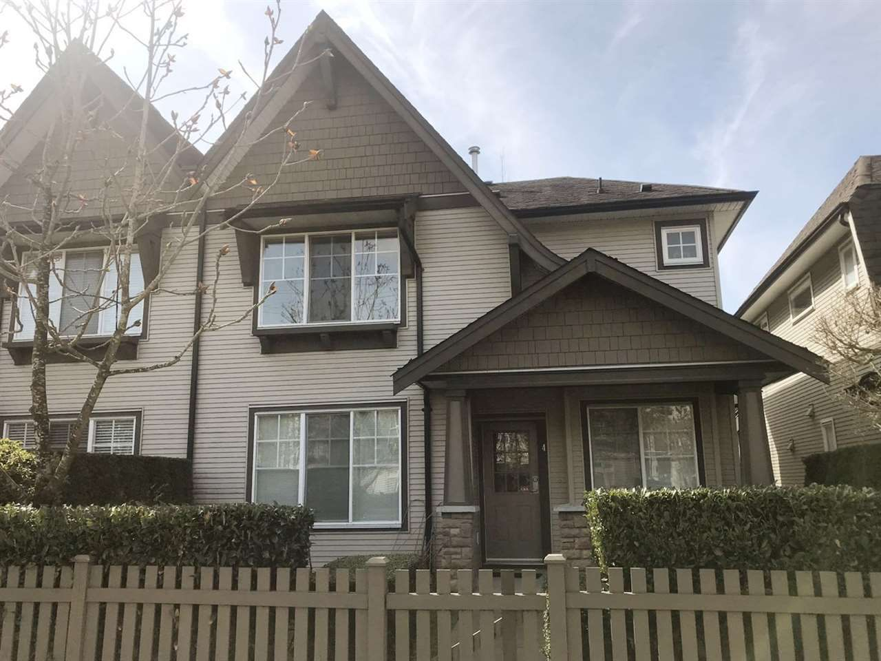 Main Photo: 4 7233 HEATHER Street in Richmond: McLennan North Townhouse for sale : MLS®# R2361724