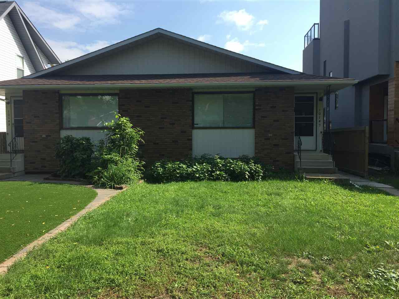 Main Photo: 10147 88 Street in Edmonton: Zone 13 House Half Duplex for sale : MLS®# E4145990