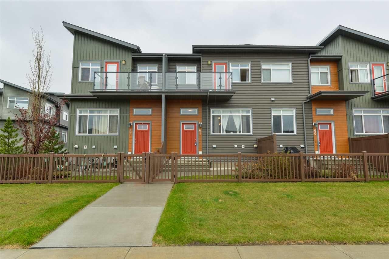 Main Photo: 61 7503 GETTY Gate in Edmonton: Zone 58 Townhouse for sale : MLS®# E4157159