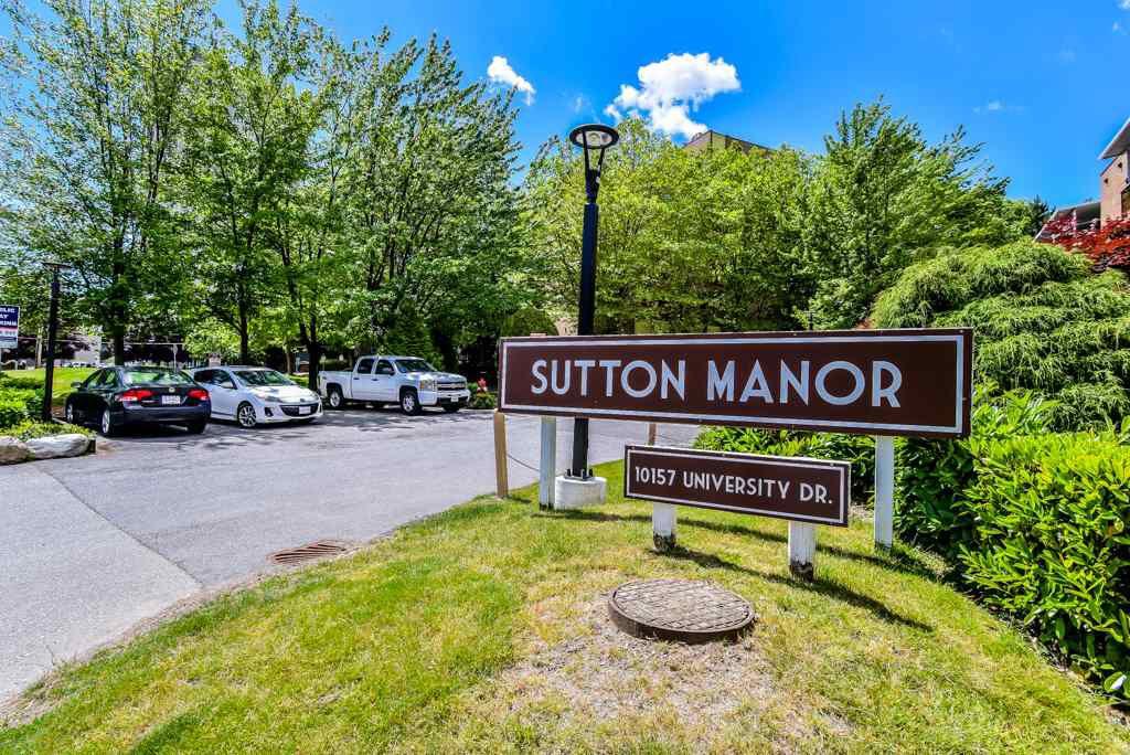 "Main Photo: 204 10157 UNIVERSITY Drive in Surrey: Whalley Condo for sale in ""Sutton Manor"" (North Surrey)  : MLS®# R2376771"