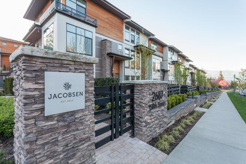 """Main Photo: 58 2687 158 Street in Surrey: Grandview Surrey Townhouse for sale in """"JACOBSEN"""" (South Surrey White Rock)  : MLS®# R2054062"""