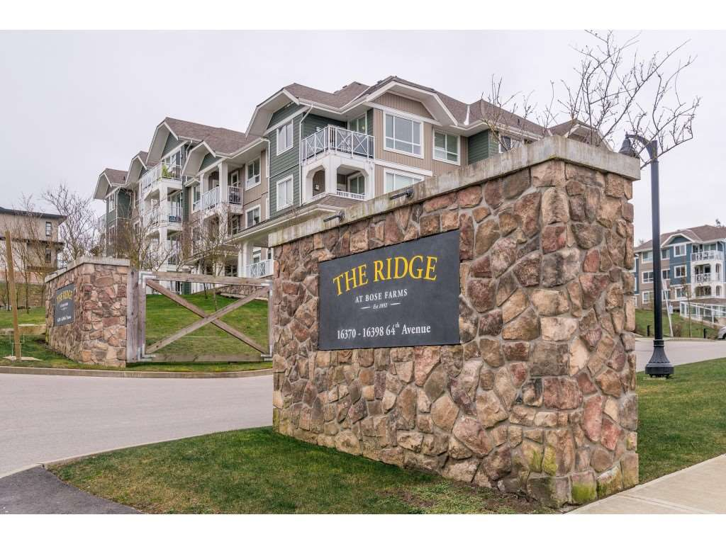 "Main Photo: 205 16398 64 Avenue in Surrey: Cloverdale BC Condo for sale in ""THE RIDGE AT BOSE FARMS"" (Cloverdale)  : MLS®# R2339810"