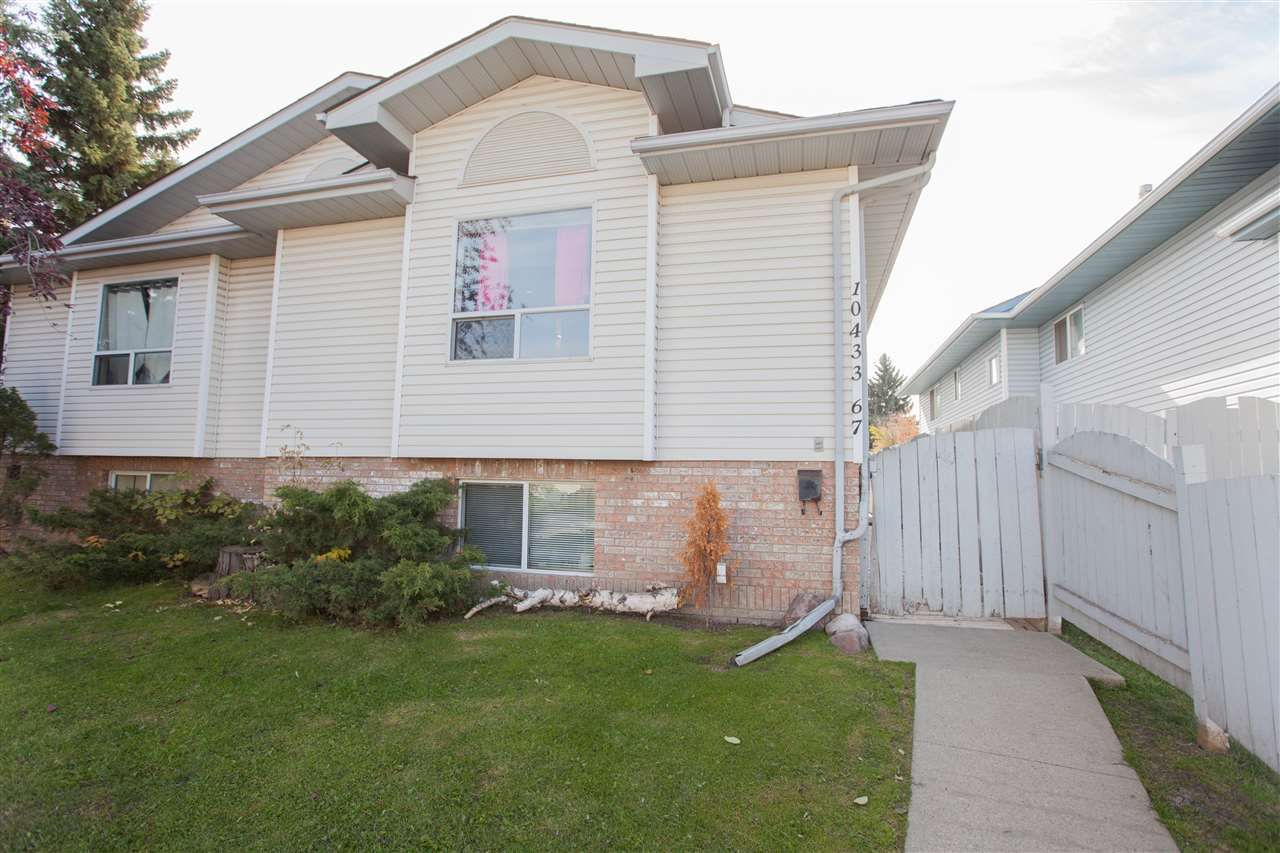 Main Photo: 10433 67 Avenue in Edmonton: Zone 15 House Half Duplex for sale : MLS®# E4132439