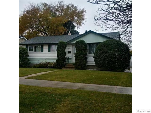 Main Photo: 876 Knox Street in WINNIPEG: Westwood / Crestview Residential for sale (West Winnipeg)  : MLS®# 1529794