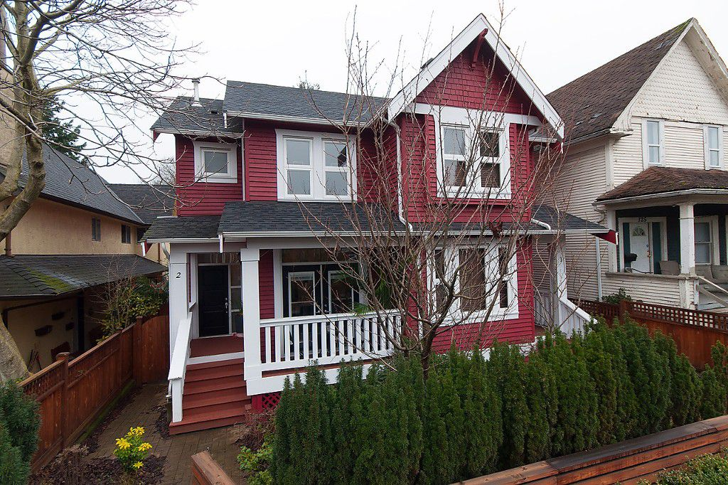 Main Photo: 2 127 W 12TH Avenue in Vancouver: Mount Pleasant VW House 1/2 Duplex for sale (Vancouver West)  : MLS®# R2039710