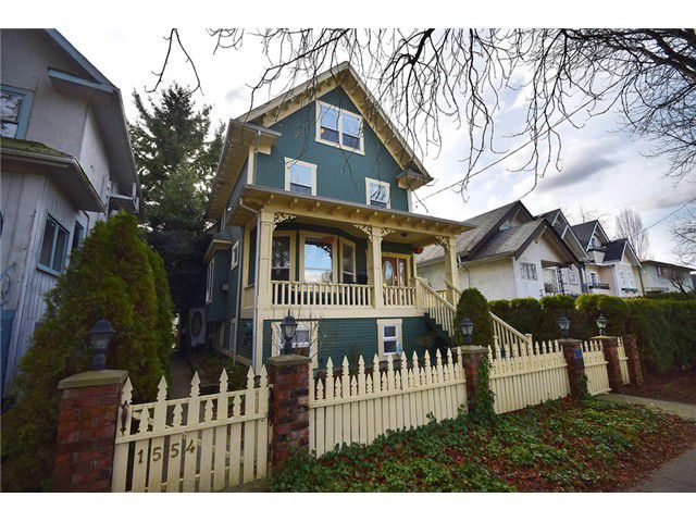 "Main Photo: 1552 E 10TH Avenue in Vancouver: Grandview VE House for sale in ""COMMERCIAL DRIVE"" (Vancouver East)  : MLS®# V1049158"