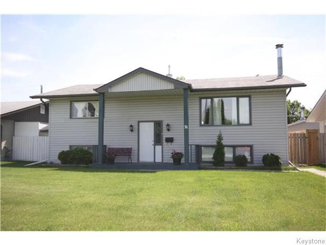 Main Photo: 74 Bayview Drive in Winnipeg: Transcona Residential for sale (North East Winnipeg)  : MLS®# 1615924
