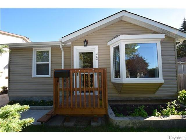 Main Photo: 280 Cheriton Avenue in Winnipeg: East Kildonan Residential for sale (North East Winnipeg)  : MLS®# 1620534