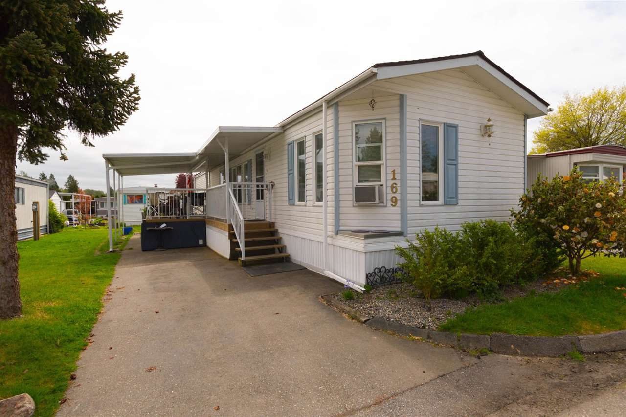 "Main Photo: 169 1840 160 Street in Surrey: King George Corridor Manufactured Home for sale in ""Breakaway  Bays"" (South Surrey White Rock)  : MLS®# R2262092"
