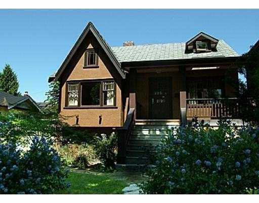 Main Photo: 2725 W 10TH AV in Vancouver: Kitsilano House for sale (Vancouver West)  : MLS®# V595728