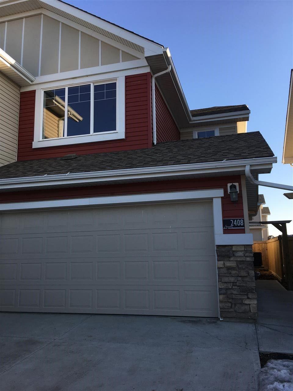 Main Photo: 2408 SPARROW Crescent in Edmonton: Zone 59 House Half Duplex for sale : MLS®# E4143277