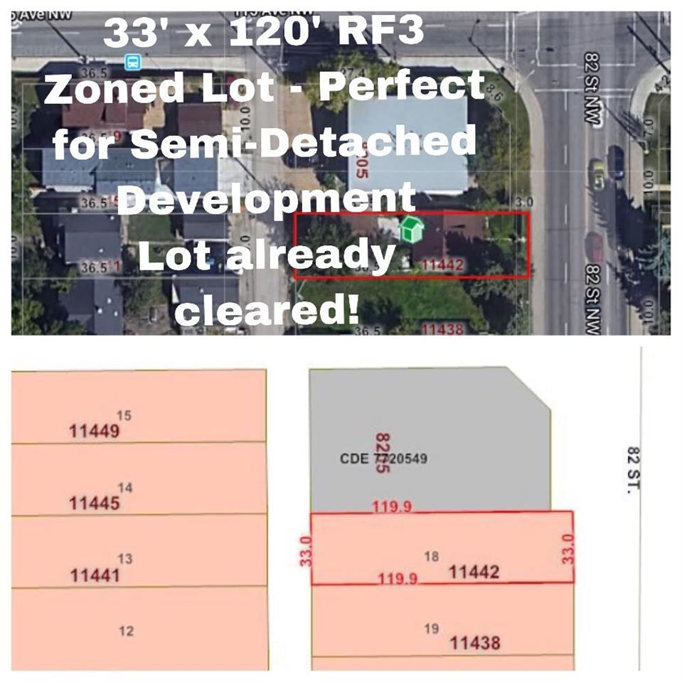 Main Photo: 11442 82 Street in Edmonton: Zone 05 Vacant Lot for sale : MLS®# E4141214