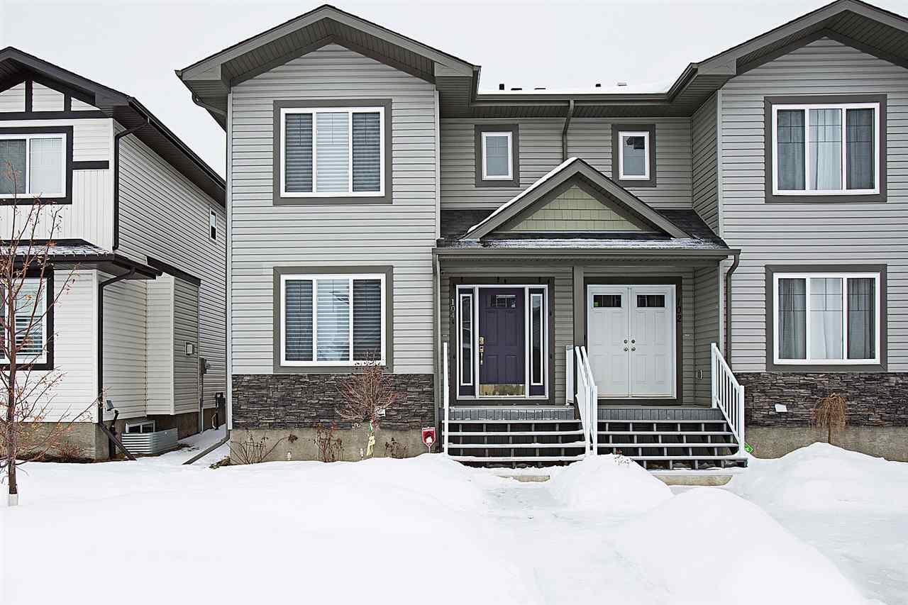 Main Photo: 104 RICHMOND Link: Fort Saskatchewan House Half Duplex for sale : MLS®# E4141429