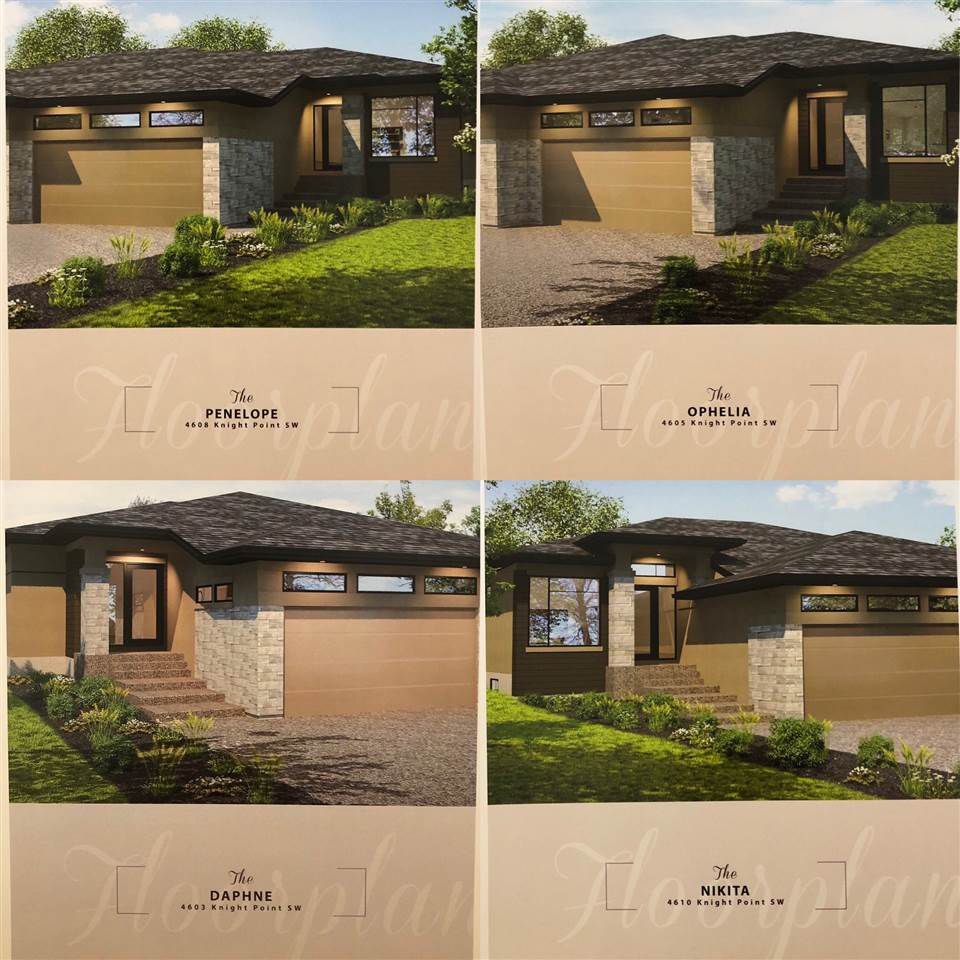 Main Photo: 4604 Knight Point in Edmonton: Zone 56 House Half Duplex for sale : MLS®# E4158655