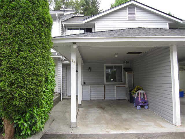 "Main Photo: 22 22411 124 Avenue in Maple Ridge: East Central Townhouse for sale in ""CREEKSIDE VILLAGE"" : MLS®# V1136184"