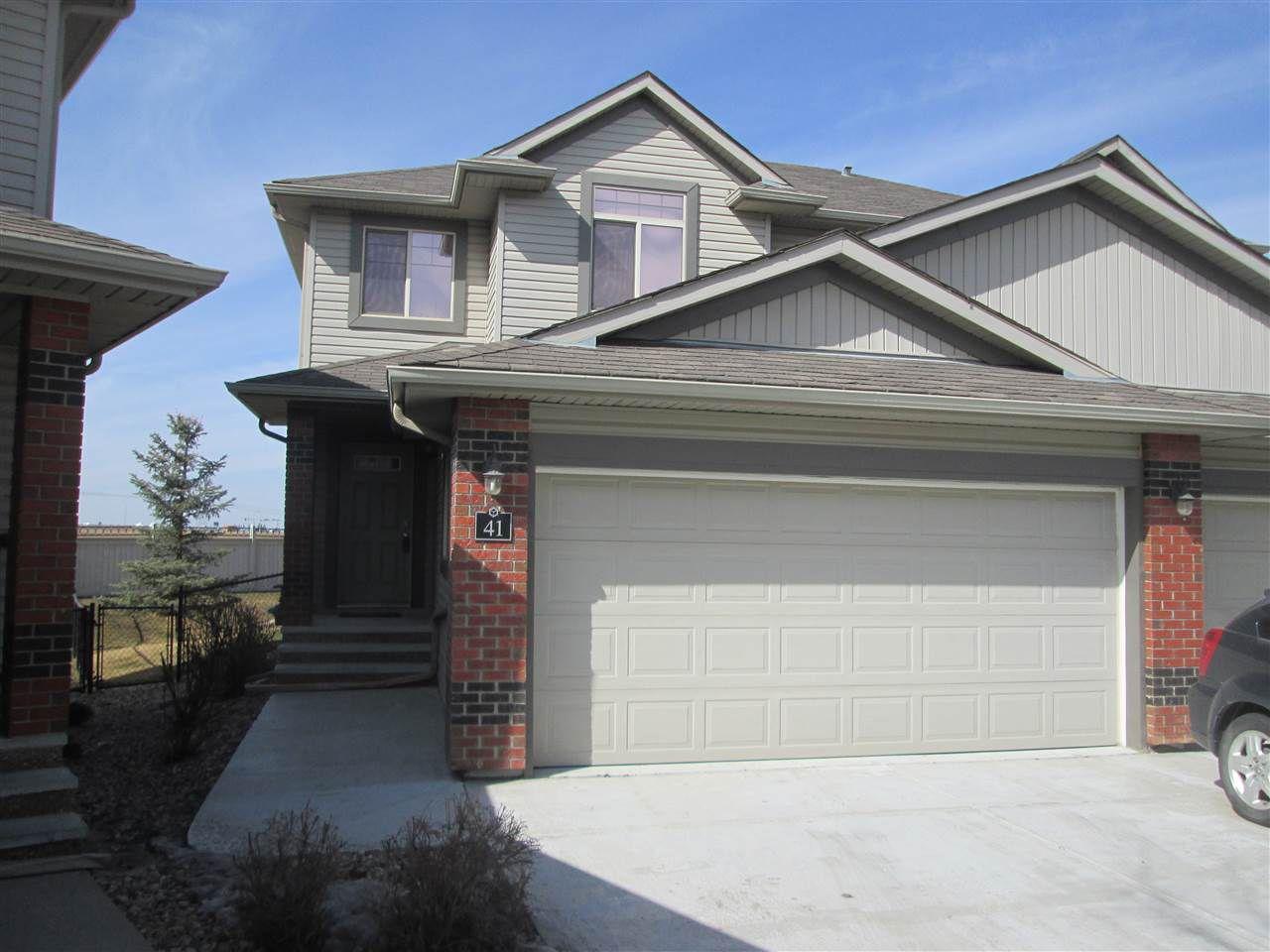 Main Photo: 41 1128 156 Street in Edmonton: Zone 14 House Half Duplex for sale : MLS®# E4150860