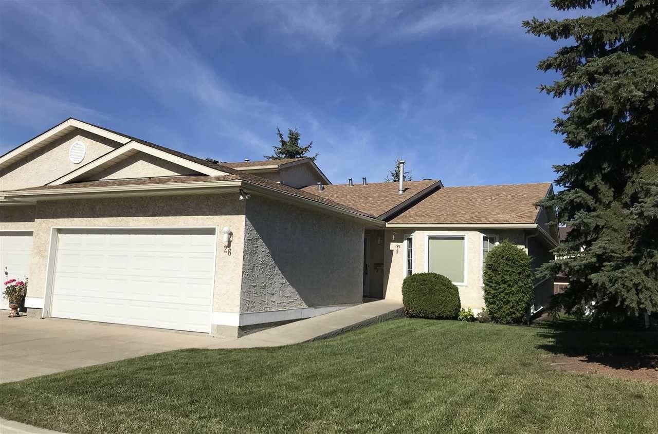 Main Photo: 26 9375 172 Street in Edmonton: Zone 20 House Half Duplex for sale : MLS®# E4139079
