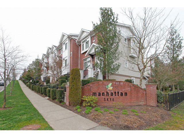 "Main Photo: 62 19551 66 Avenue in Surrey: Clayton Townhouse for sale in ""Manhatten Skye"" (Cloverdale)  : MLS®# R2038478"