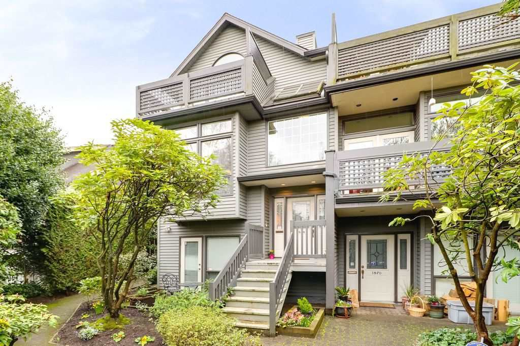 Main Photo: 1868 W 15TH Avenue in Vancouver: Kitsilano Townhouse for sale (Vancouver West)  : MLS®# R2255178