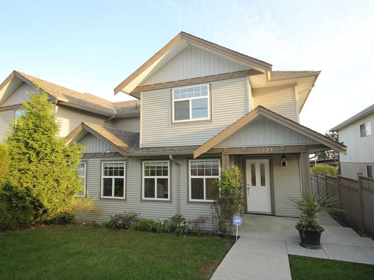 Main Photo: A 1042 CHARLAND Avenue in Coquitlam: Central Coquitlam House 1/2 Duplex for sale : MLS®# R2257385